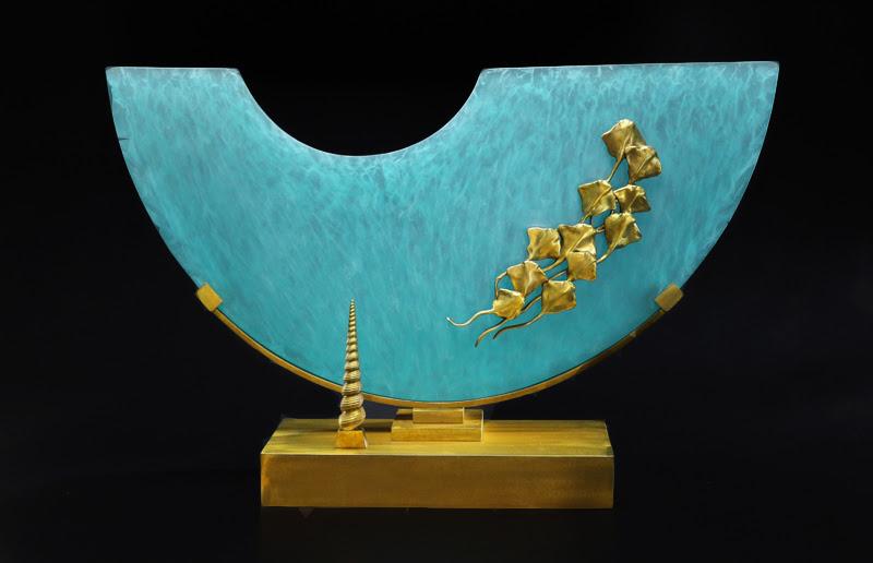 Aqua Ray Sculpture