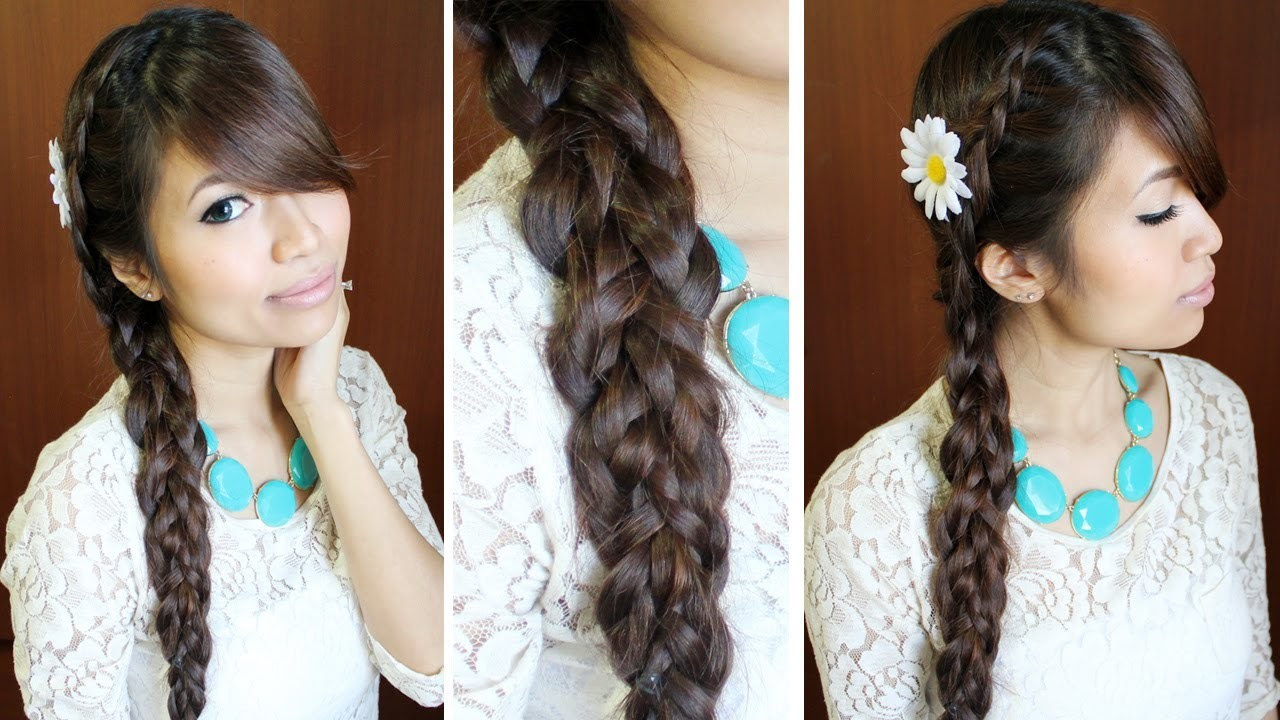 Your Life Style Knotted Loop Waterfall Braid Hairstyle For Short