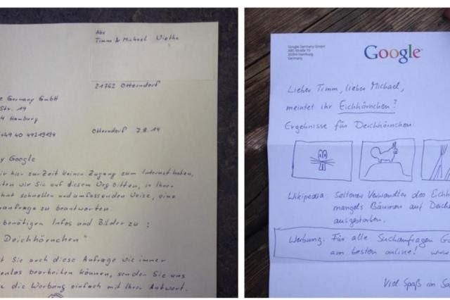 Família sem internet envia carta ao Google e ganha resposta inusitada Reprodução/Twitter