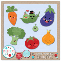 Little Veggies Cutting Files
