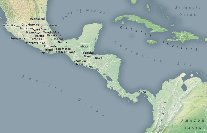 Mesoamerica/Caribbean Map. Image Courtesy of the National Museum of the American Indian.