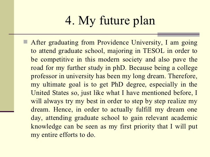 essay about your future
