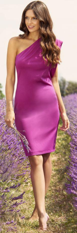 Pink one-shoulder dress, £149, tedbaker.com
