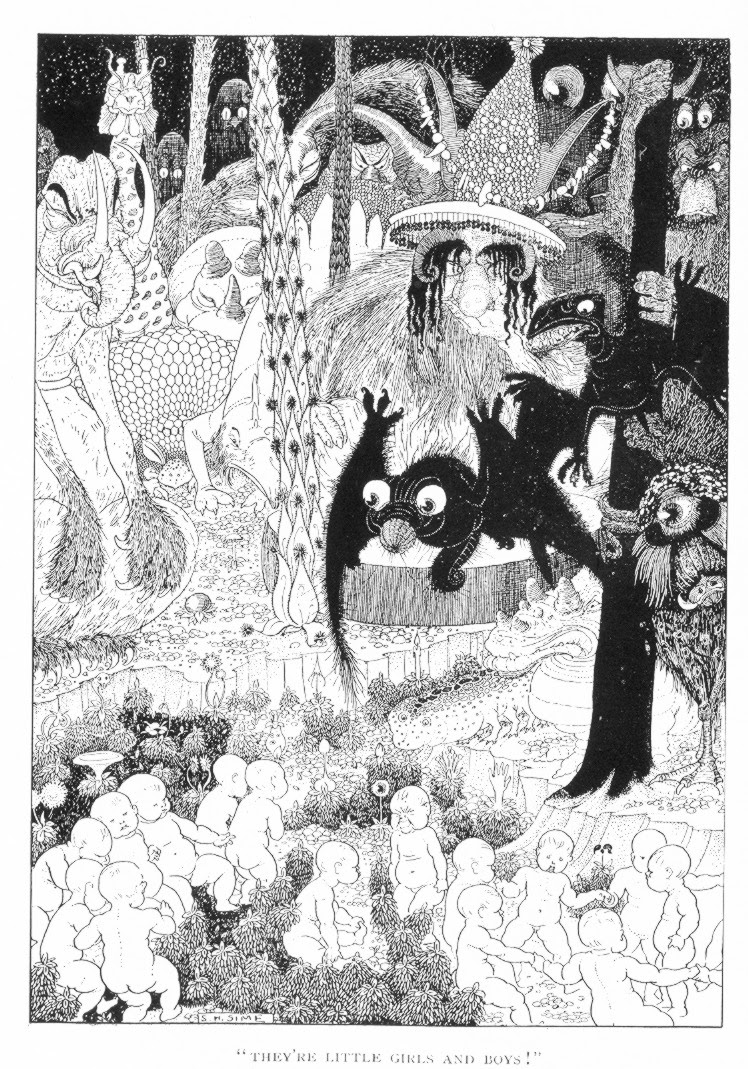 Sidney Sime - Zagabog Illustration, 1901