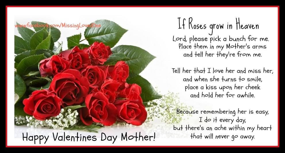 Happy Valentines Day To My Mom In Heaven Pictures Photos And