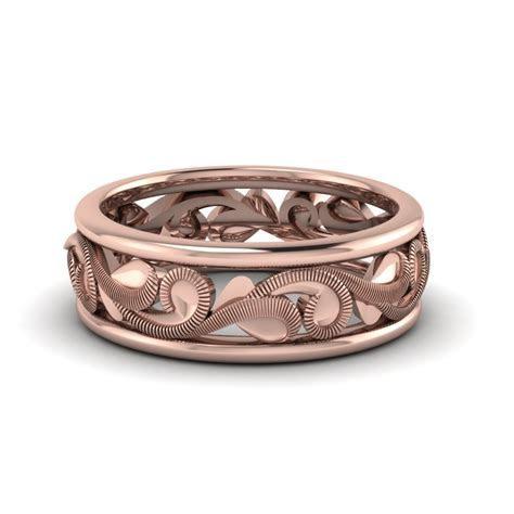 18k Rose Gold Mens Wedding Band   Fascinating Diamonds