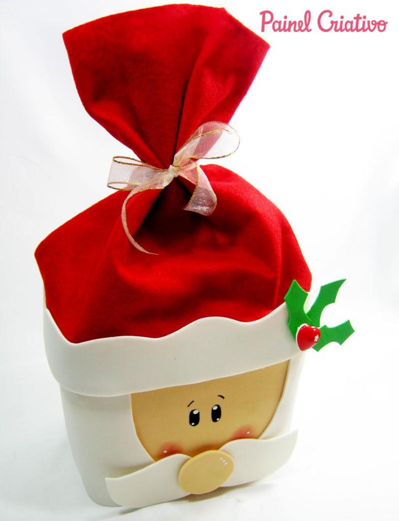 como fazer papai noel pote sorvete lembrancinha decoracao natal (3)