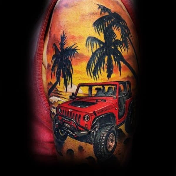 Incredible Jeep Tattoos For Men