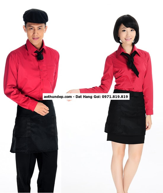 đồng phục váy quán cafe