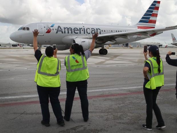 Resultado de imagem para primeiro voo cuba american