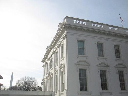 Washington Monument, White House, Flag