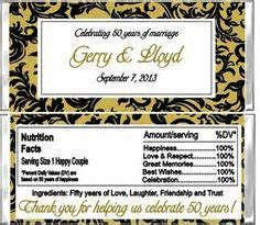 Printable 50th Wedding Anniversary Printable party pack