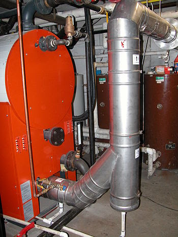 English: Condensing Boiler Exaust
