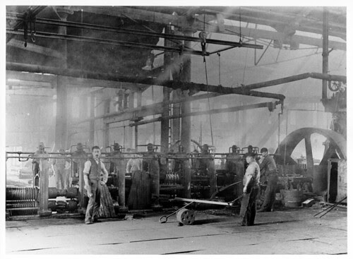 "Midvale Steel Company workers assigned to ""Rolling Mill 12 Train"" ca. 1887"