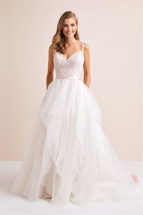 Garza Ball Gown Wedding Dress with Double Straps wg3903