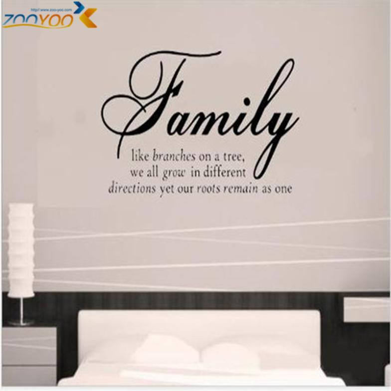 family like branches home decor creative quote wall decals zooyoo8082 decorative adesivo de