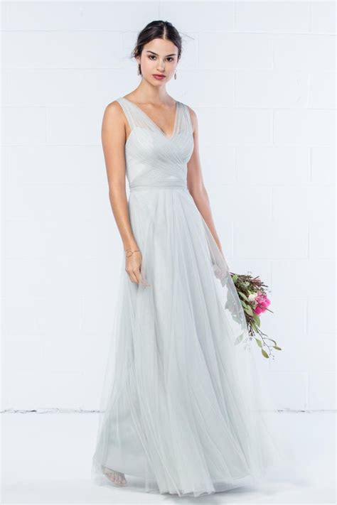 size  eucalyptus wtoo   neck bobbinet bridesmaid