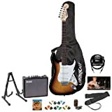 Squier by Fender Sunburst Electric Guitar Kit - Includes: Stand, Strap, Gig Bag, Amp, Cable, Tuner, Strings and...