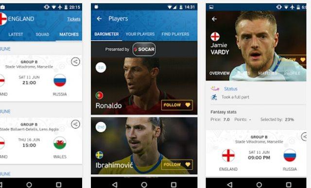 ứng dụng xem truyền hình bóng đá euro năm 2016 miễn phí