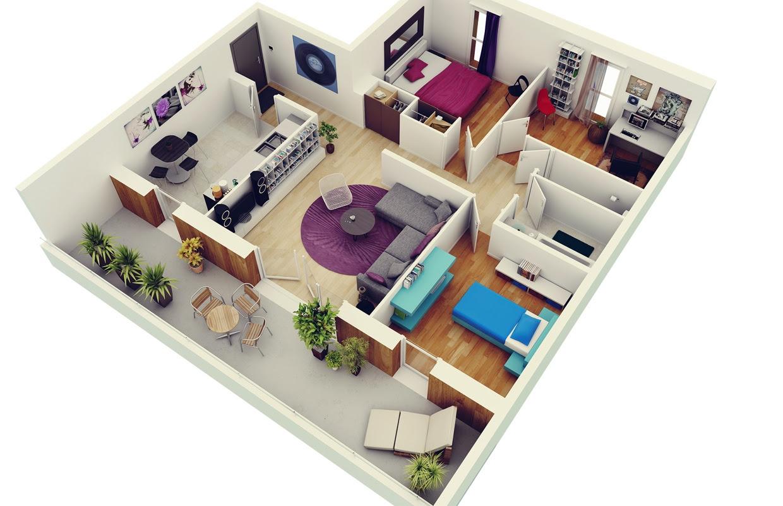 14 Three Bedroom House Design Pictures   minimalist home design