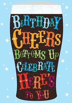 HAPPY BIRTHDAY CARD BIRTHDAY CHEERS DESIGN SIZE 4.75 x 6