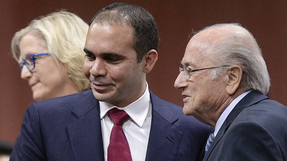 Príncipe jordanianoAli bin Al-Hussein é o rival de Joseph Blatter nestas eleições da Fifa