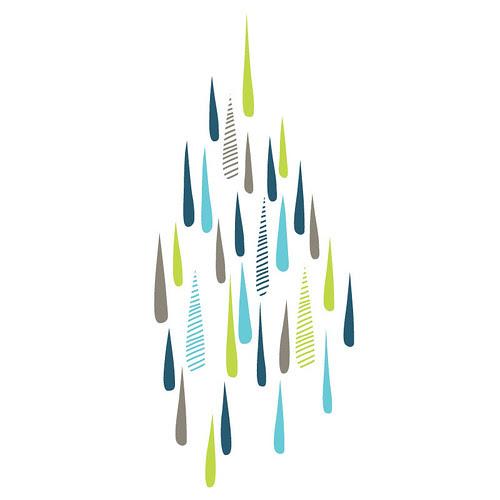 rainy day wall sticker/decal