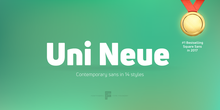 Download Uni Neue™ Font Family From Fontfabric