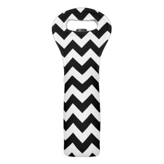 Black and White Zigzag Wine Bags