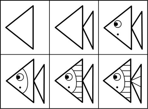 Poisson d'avril 2017 à imprimer dessiner colorier apprendre à faire un dessin de poisson d'avril