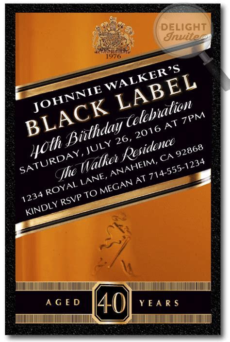 Johnnie Walker Over the Hill 40th Birthday Party
