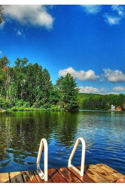 swim in the lake 3
