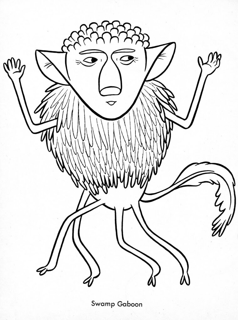 Funny Monsters Coloring Book (Treasure Books, 1965) 29