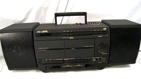 vintage jvc amfm stereo cassette recorder detachable