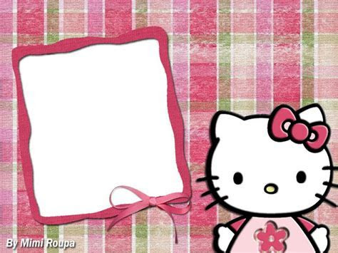 Hello Kitty: Cute Free Printable Frames and Images.   Oh