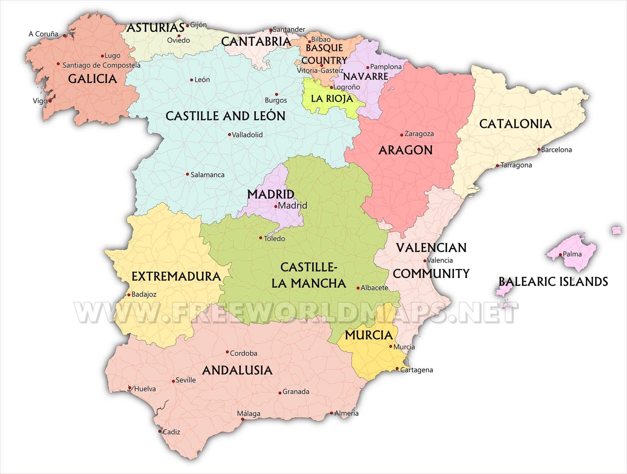 Spain Maps By Freeworldmaps Net
