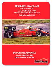 Kit 1/43 Tameo Kits - Ferrari 126 C4-M2 Fiat Agip - Michele Alboreto, Rene Arnoux - Gran Premio de Europa 1984 - kit Multimedia