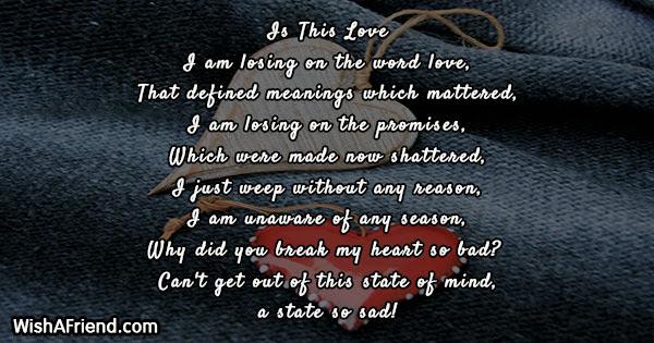 Broken Heart Poems