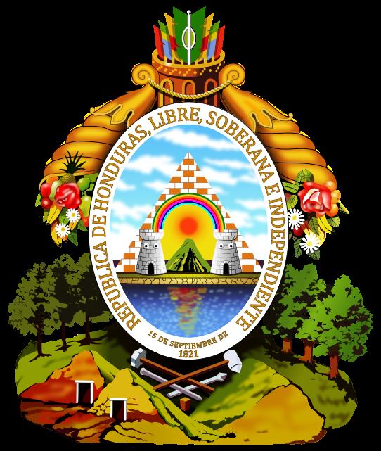 Ficheiro:Coat of arms of Honduras.svg