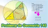 Problema de Geometría 145. Triangulo, Circunferencia Inscrita, Tangente, Paralela, Incentro, Circuncentro.