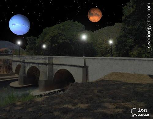 Marte y Neptuno se cruzan sobre El Puente Morillo. 3:00 am by Niño Jesús