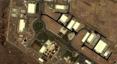 Image satellite de l'usine d'enrichissement d'uranium de Natanz, découverte en 2002 au centre de l'Iran.