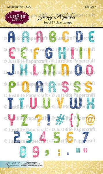 Grunge Alphabet Clear Stamp Set