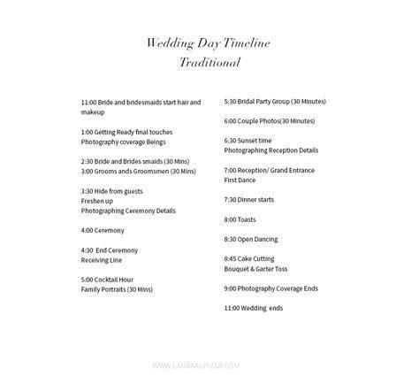 Wedding Day Traditional Timeline   Minneapolis Wedding