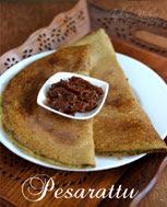Andhra Pesarattu Recipe Pesarattu Dosa (Green Moong Dal)