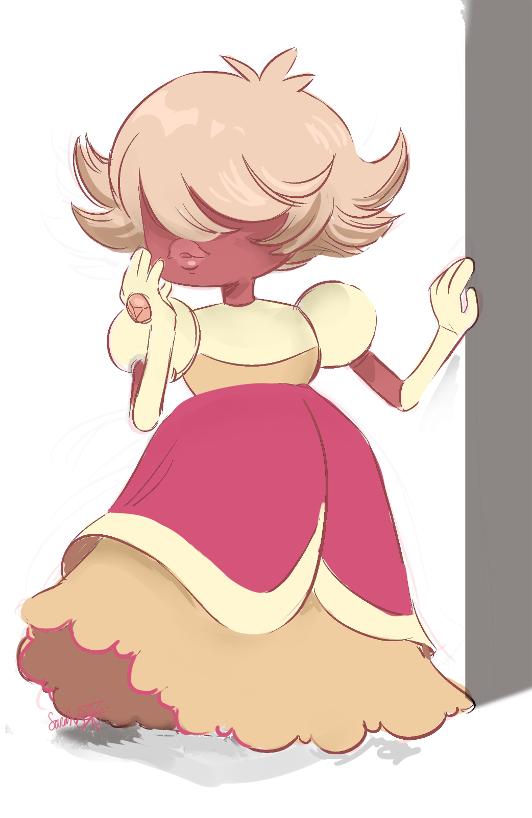 WHOOOO! Thank you so much for all the positive feedback as of the last few days!! In celebration of 500 followers- have a colored padparadscha doodle!