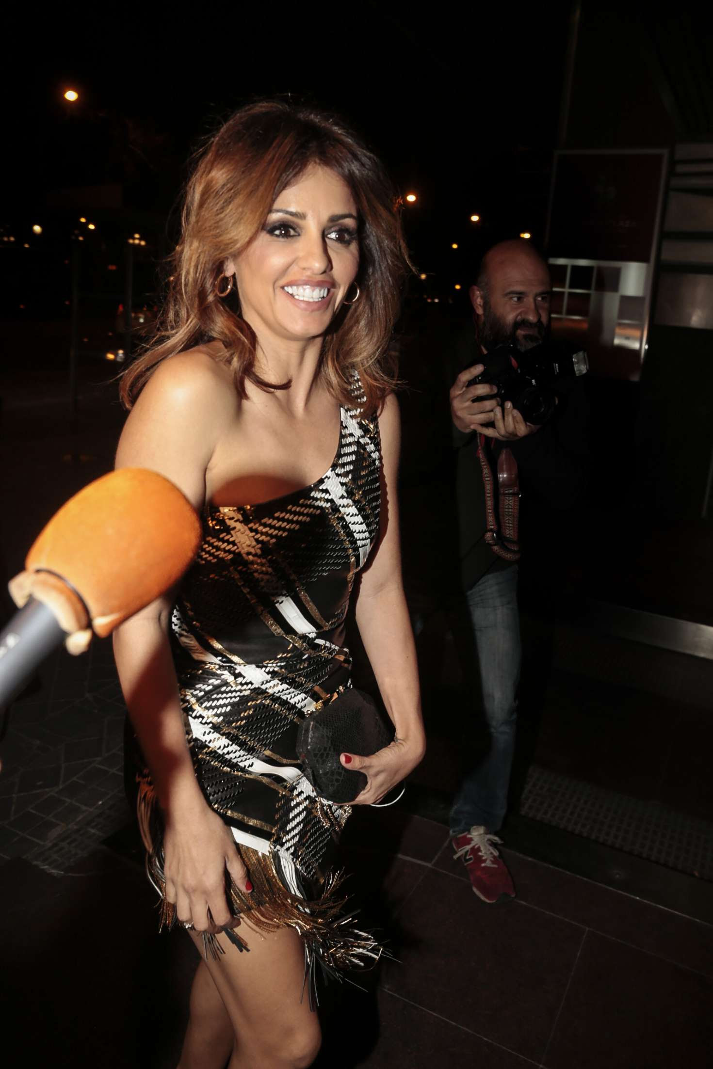 Monica Cruz at her 40th birthday in Madrid