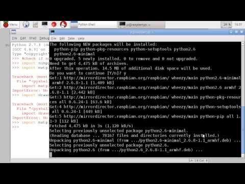 Hello Raspberry Pi: Install numpy, matplotlib and drawnow