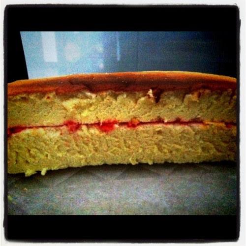 Strawberry yogurt cake!  (Taken with instagram)