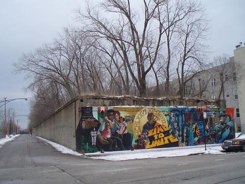 Abandoned railroad embankment